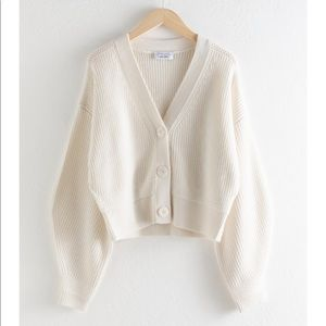 & Other Stories Cropped Cardigan - NWOT